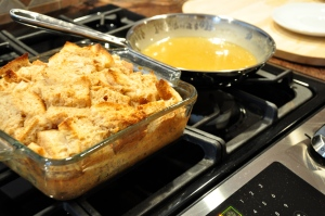Bread Pudding and Whiskey Sauce