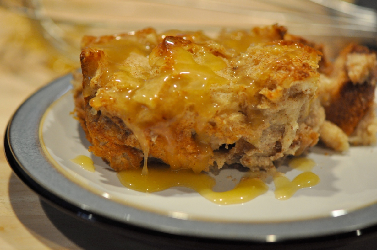 Bread Pudding with Whiskey Sauce | She Cooks Up Nice