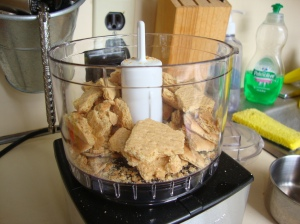 crumbs in food processor