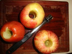 core an apple