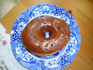 milk chocolate donut